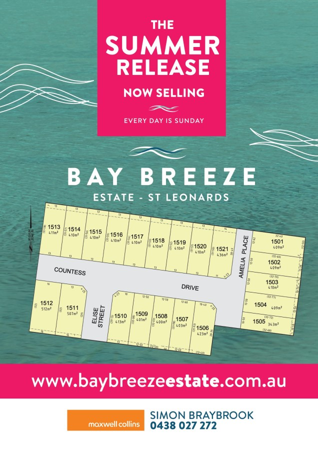 The overview of the Summer Release at Bay Breeze Estate
